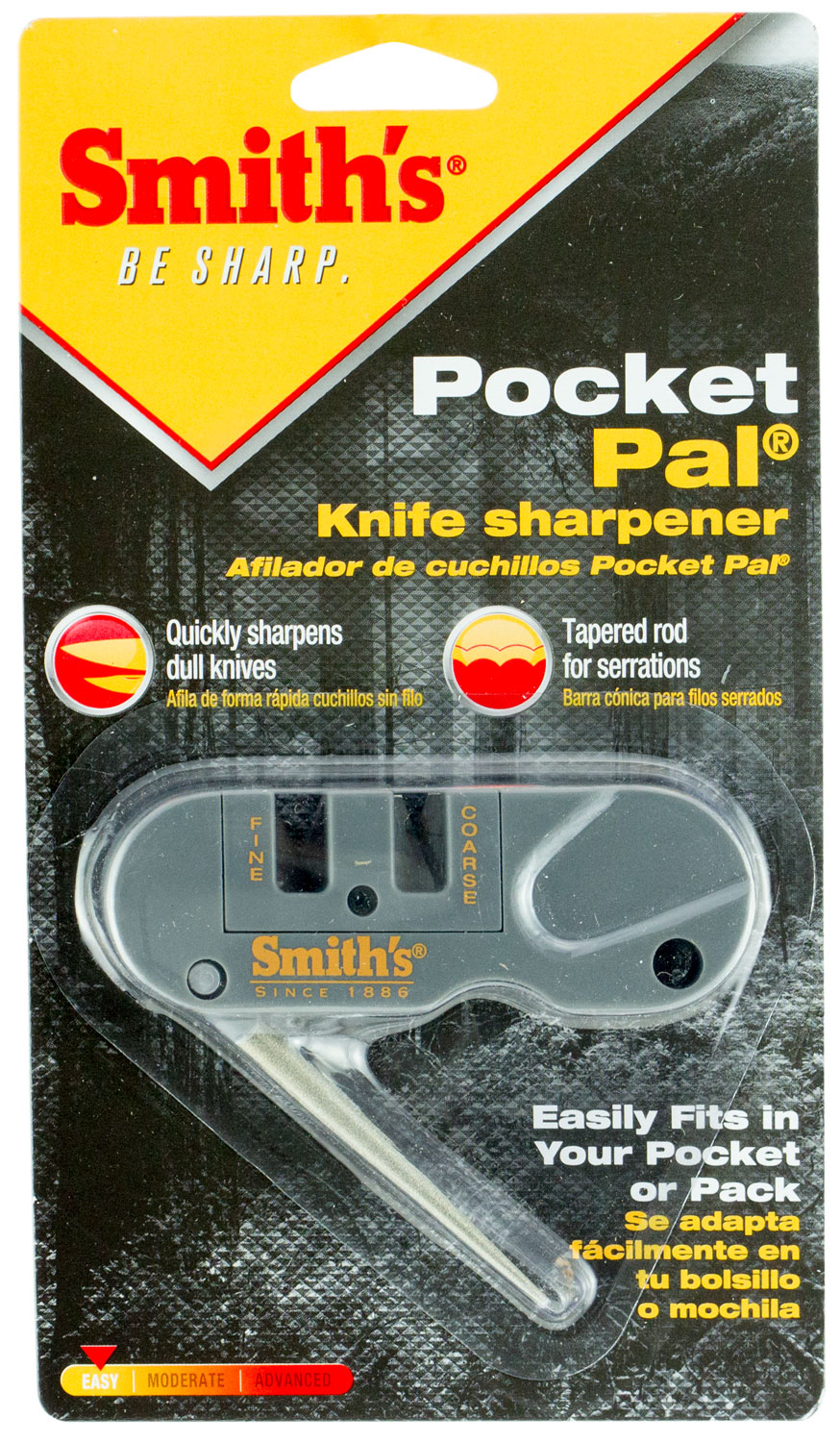 Smiths Products PP1 Pocket Pal Sharpener Tungsten Carbide and Ceramic Fine, Coarse