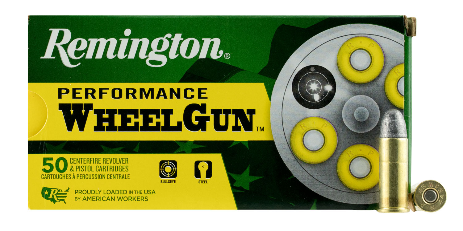 Remington Ammunition RPW44SW Performance WheelGun 44 Smith & Wesson Special 246 GR Lead Round Nose 50 Bx/ 10 Cs
