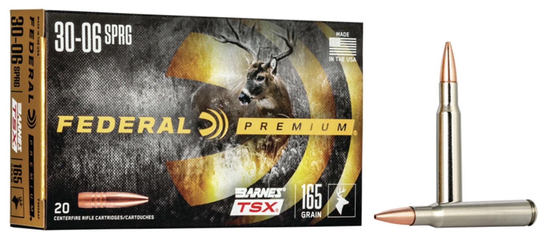 Federal P3006AF Premium   30-06 Springfield 165 GR Barnes Triple-Shock X Bullet (TSX) 20 Bx/ 10 Cs
