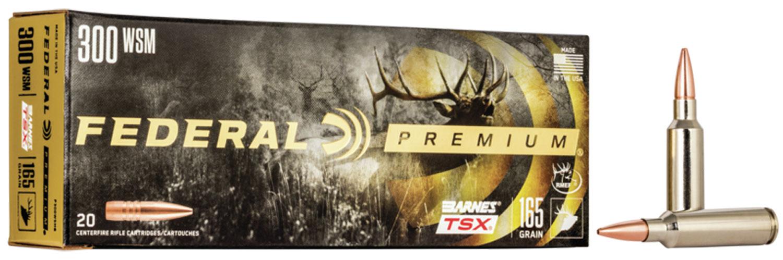 Federal P300WSMG Premium   300 Win Short Mag (WSM) 165 GR Barnes Triple-Shock X Bullet (TSX) 20 Bx/ 10 Cs