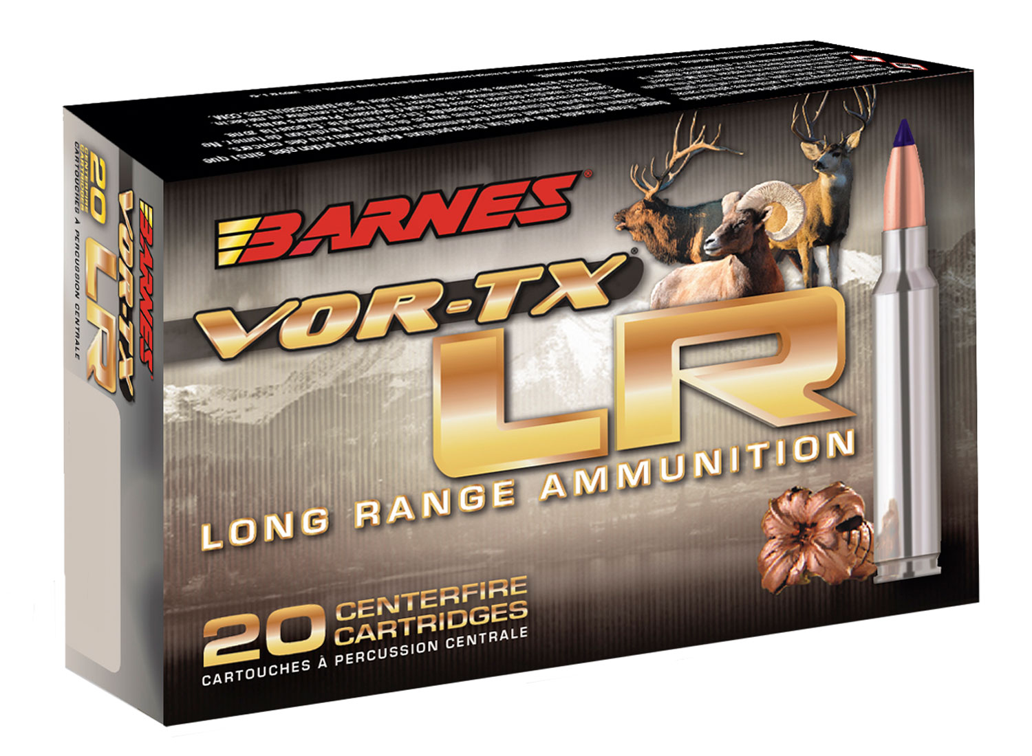 Barnes Bullets 29067 VOR-TX 375 Remington Ultra Magnum (RUM) 270 GR LRX Boat Tail 20 Bx/ 10 Cs