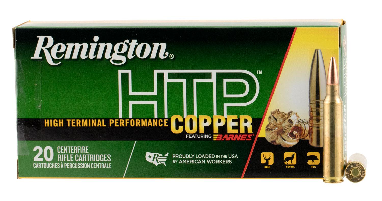Remington Ammunition HTP223R HTP Copper 223 Remington/5.56 NATO 62 GR TSX 20 Bx/ 10 Cs