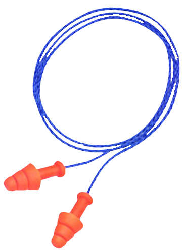 Howard Leight R01520 Multiple Use Smart Fit Earplugs 25 dB Blue Cord/Orange Plugs