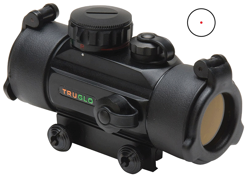 Truglo TG8030B Traditional Red Dot 1x 30mm Obj 5 MOA Dot Red Black Matte CR2032 Lithium