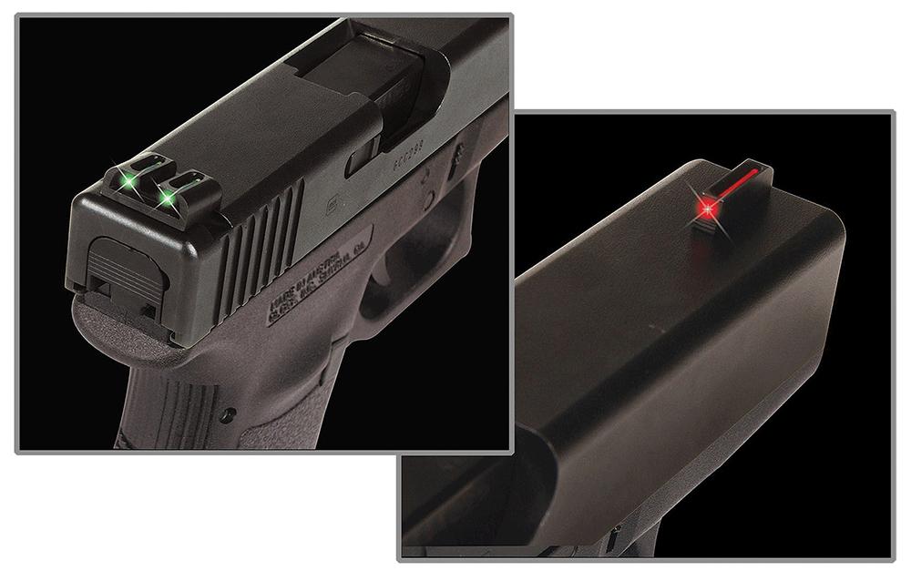 TruGlo TG-131G2 Fiber-Optic  3-Dot Hight Set Red Front, Green Rear Nitride Fortress Frame for Glock 20,21,25,29-32,37,40,41 (Except MOS Variants)