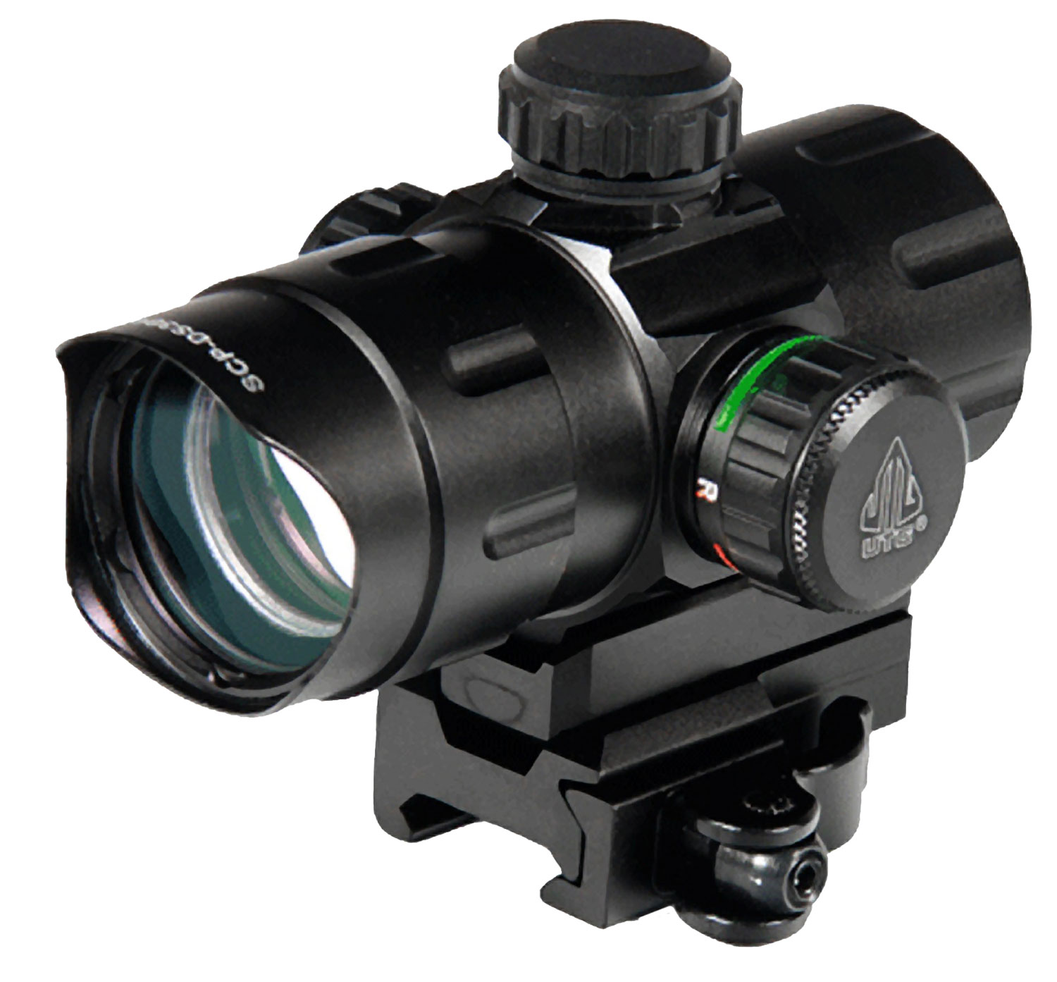 UTG SCP-DS3840W CBQ Dot 1x 32mm Obj Unlimited Eye Relief 4 MOA Black