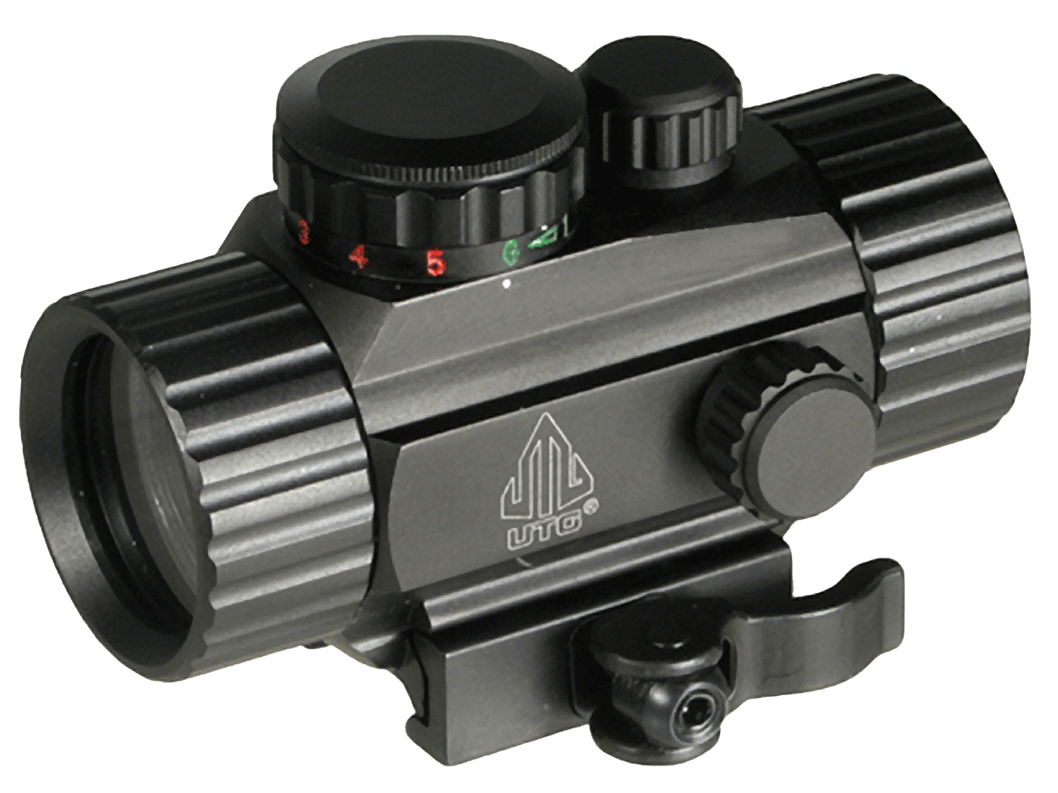 UTG SCP-RG40CDQ Circle Dot Sight 1x 30mm Obj N/A Eye Relief 4 MOA Black