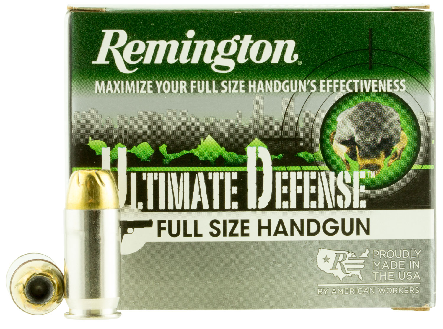 Remington Ammunition HD45APA Ultimate Defense Full Size Handgun 45 Automatic Colt Pistol (ACP) 185 GR Brass Jacket Hollow Point 20 Bx/ 25 Cs