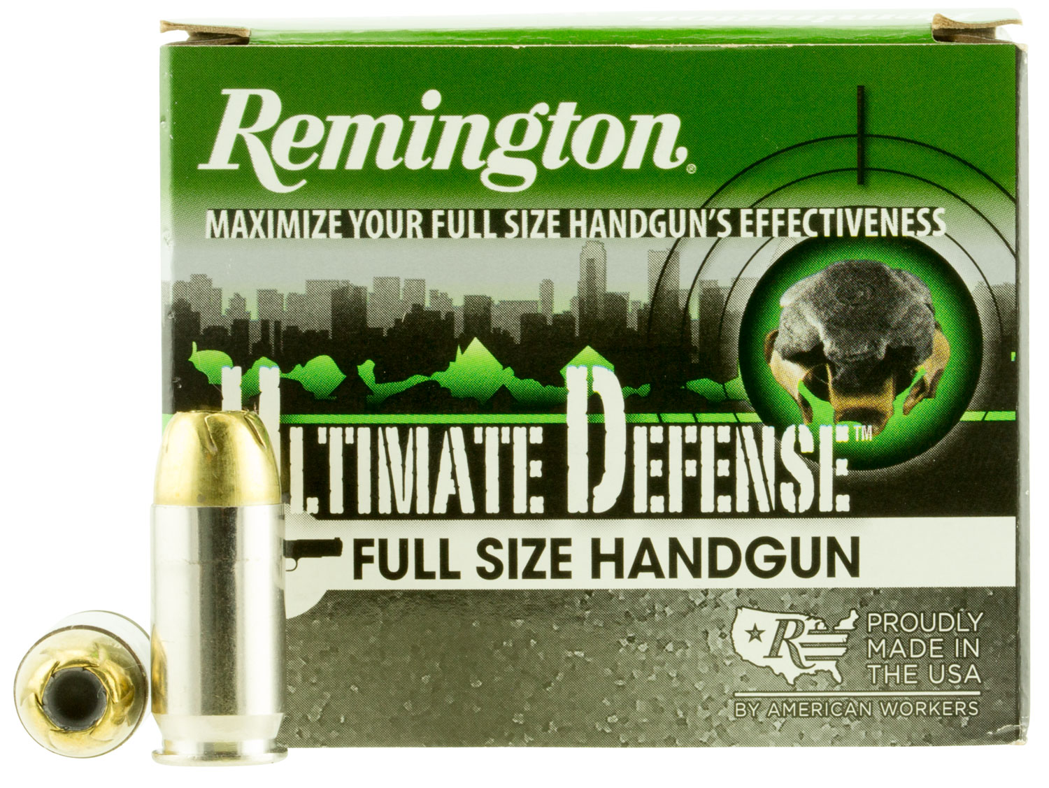 Remington Ammunition HD45APC Ultimate Defense Full Size Handgun 45 Automatic Colt Pistol (ACP) 185 GR Brass Jacket Hollow Point 20 Bx/ 25 Cs