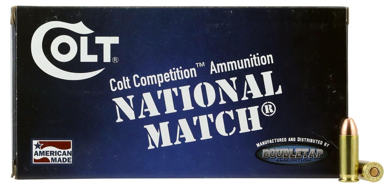 Colt Ammo 38SU124FMJCT Defense  38 Super 124 GR Full Metal Jacket 50 Bx/ 20 Cs