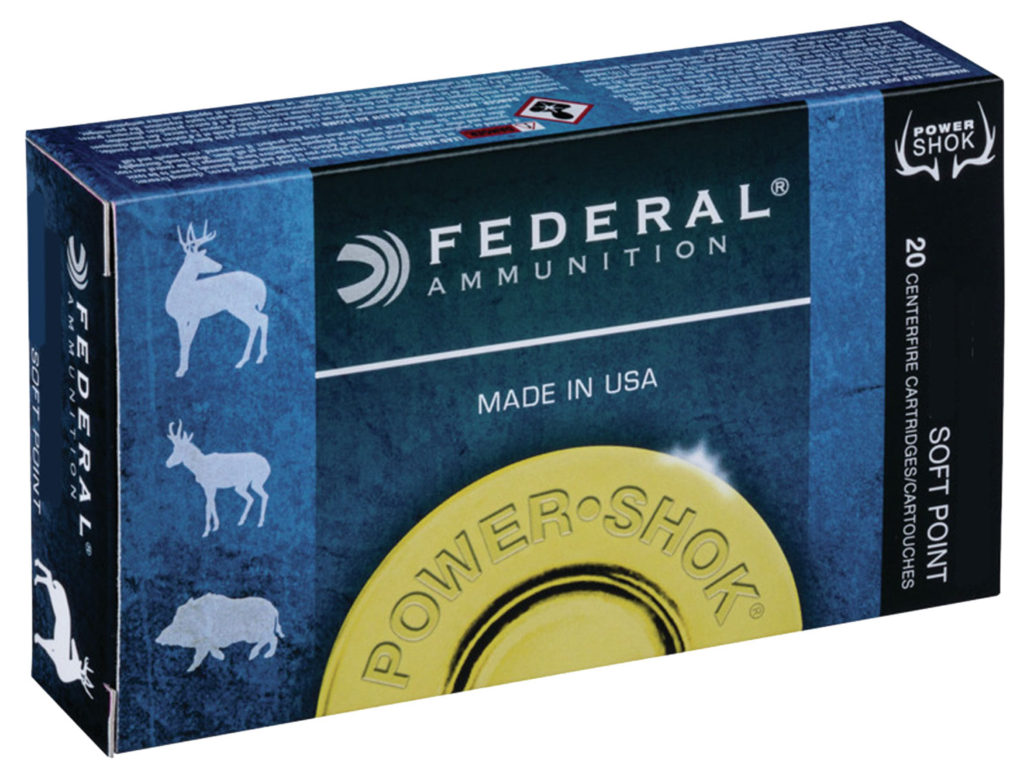 Federal 308DT150 Non-Typical Whitetail  308 Winchester/7.62 NATO 150 GR Soft Point 20 Bx/ 10 Cs