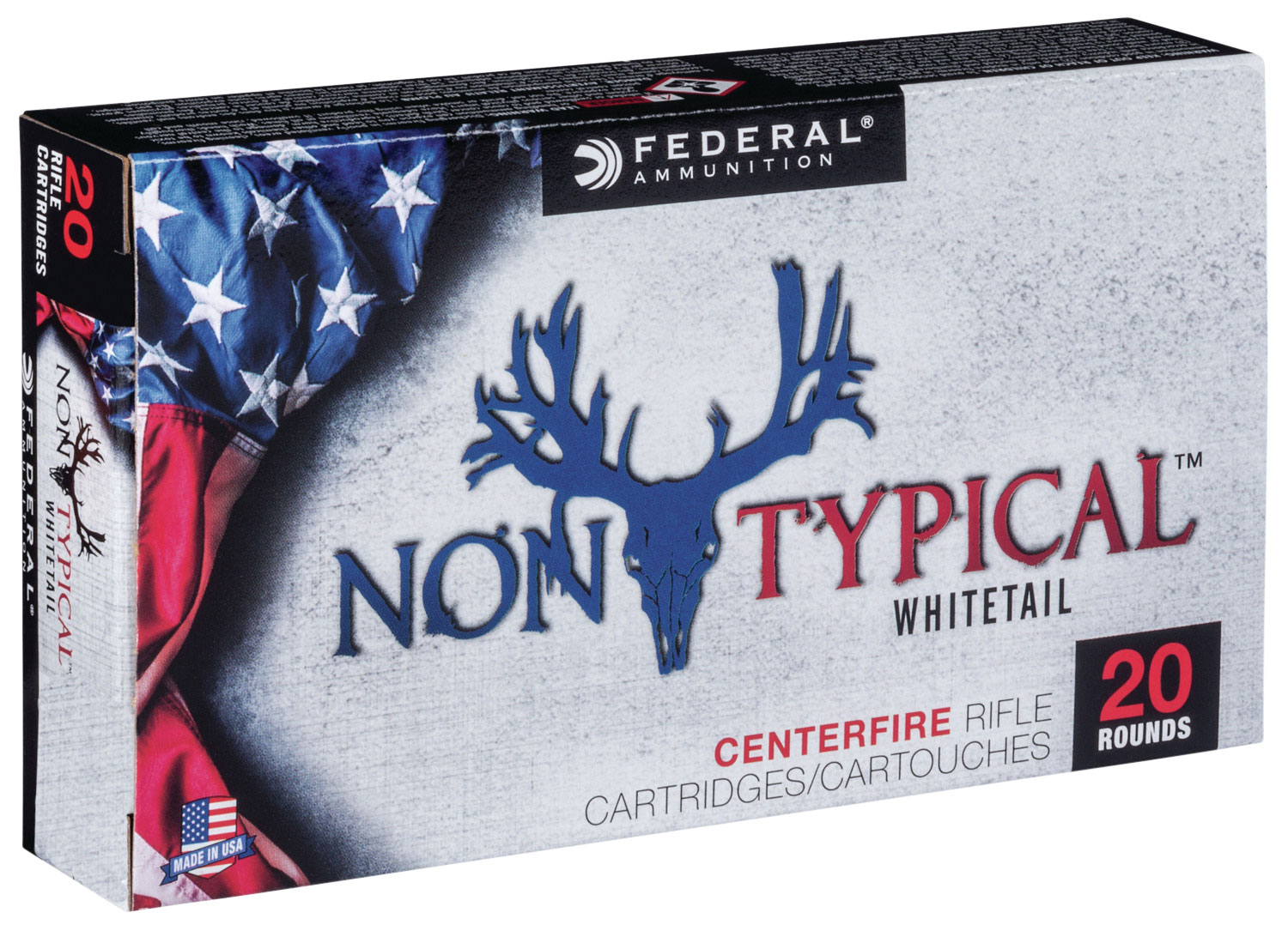 Federal 308DT180 Non-Typical Whitetail  308 Winchester/7.62 NATO 180 GR Soft Point 20 Bx/ 10 Cs