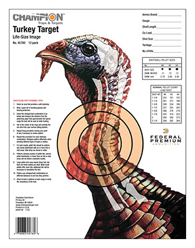 CHAMPION TURKEY TRGT LIFESIZE 12PK