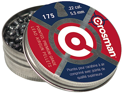 Crosman Pointed Pellets  <br>  .22 cal. 175 pk.