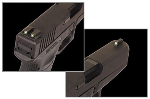 Truglo TG231G2 Brite-Site Tritium Night Sights  Glock 20/21/25/28/29/30/31/32/37/40/41 Tritium Green Front/Rear Black