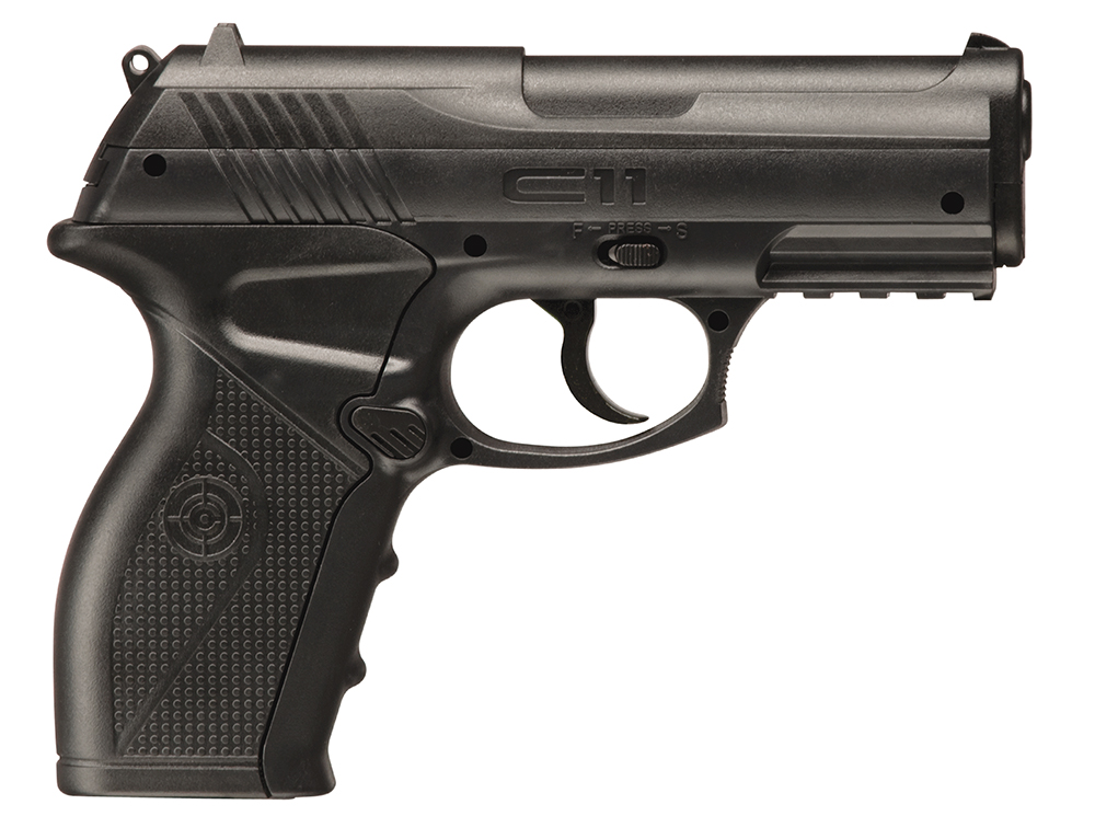 Crosman C11 Air Pistol Semi-Auto .177 Pellet & BB CO2 Black