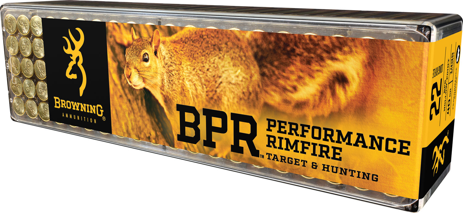 Browning Ammo B194122100 BPR Performance 22 Long Rifle 40 GR Lead Hollow Point 100 Bx/ 10 Cs 1000 Total