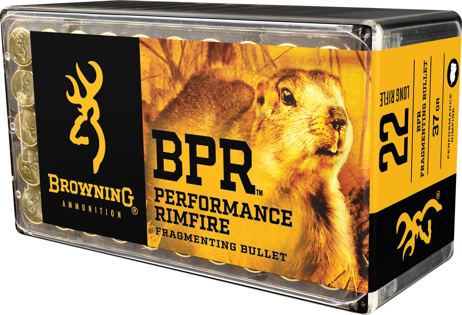 Browning Ammo B194122050 BPR Performance 22 Long Rifle 37 GR Fragmenting 1000rds