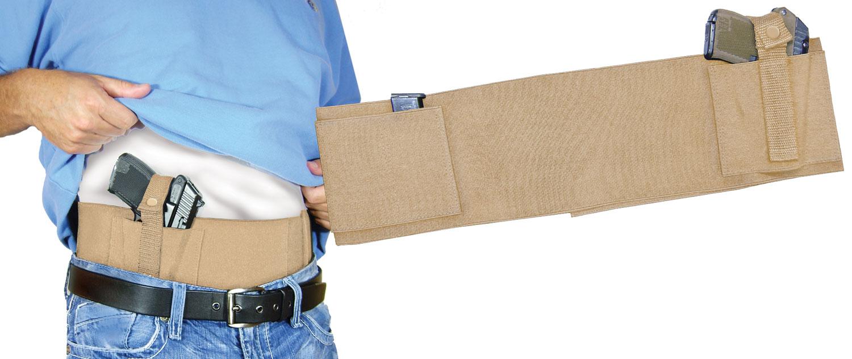 PSP BELLYBANDNL Concealed Carry Belly Band  Universal Handgun Nylon Tan