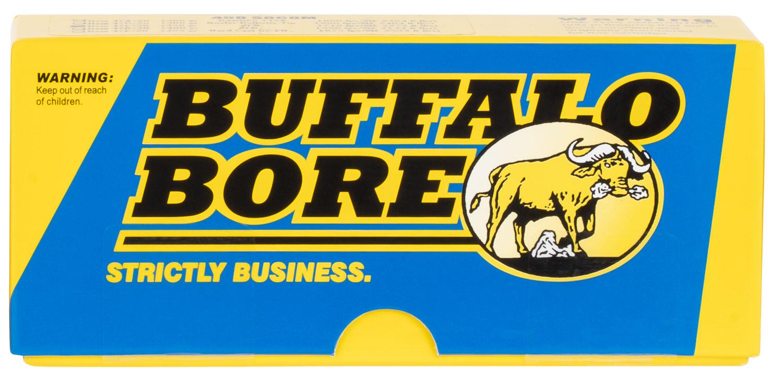 Buffalo Bore Ammunition 47C/20 Hunting and Sniping 458 SOCOM 350 GR Jacketed Flat Nose 20 Bx/ 12 Cs