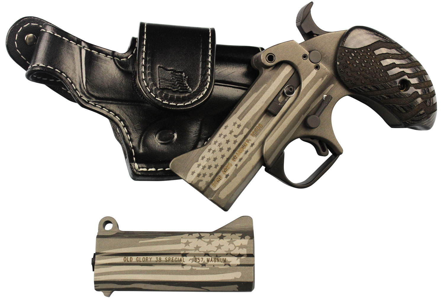 Bond Arms OLDGLORY Old Glory Package 2 Leather Holster Derringer 45/410, 357/38 3.5
