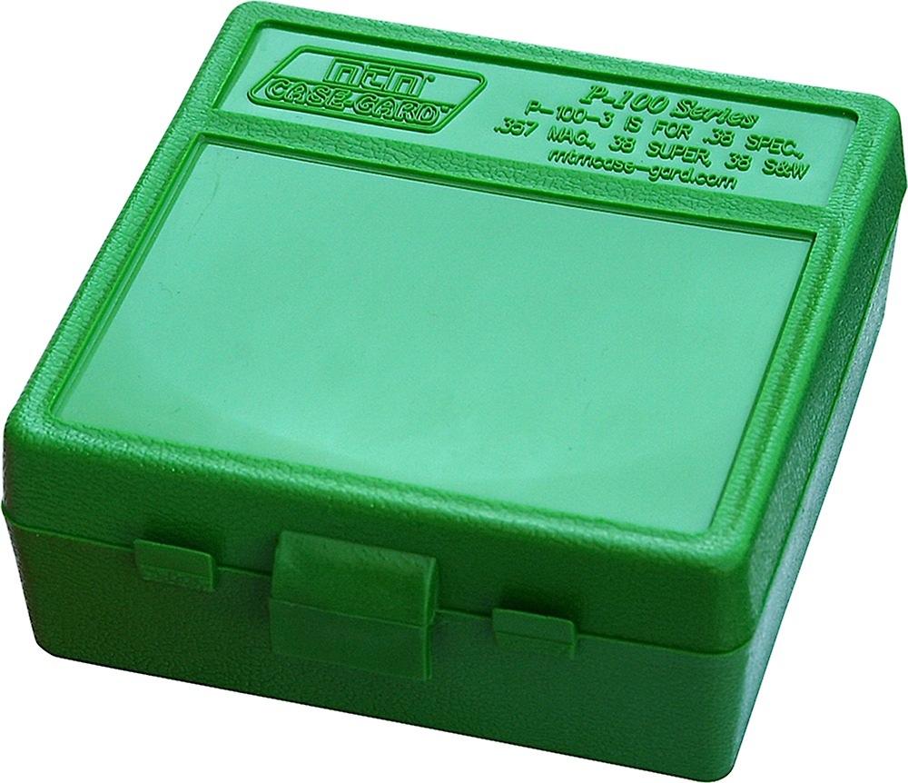 MTM P100310 100rd Pstl BX 38-357 Grn Ammo Box