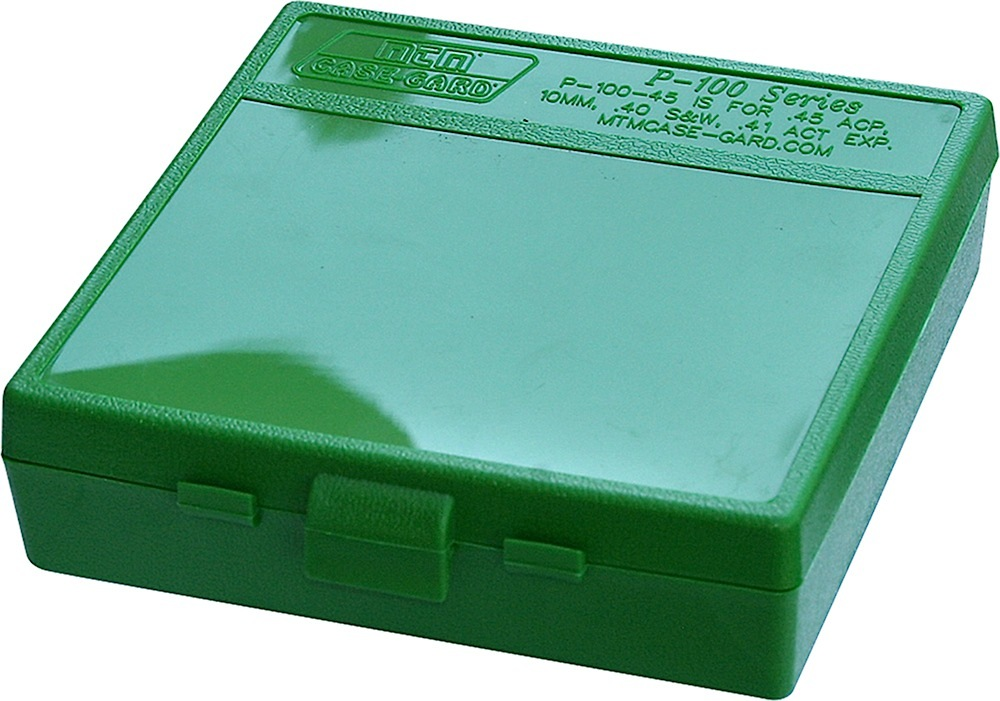 MTM AMMO BOX 9MM LUGER/.380ACP /9X18 100-ROUNDS GREEN