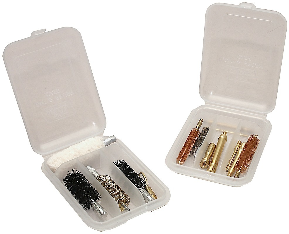 MTM JAG & BRUSH CASE - 4 COMPARTMENTS CLEAR