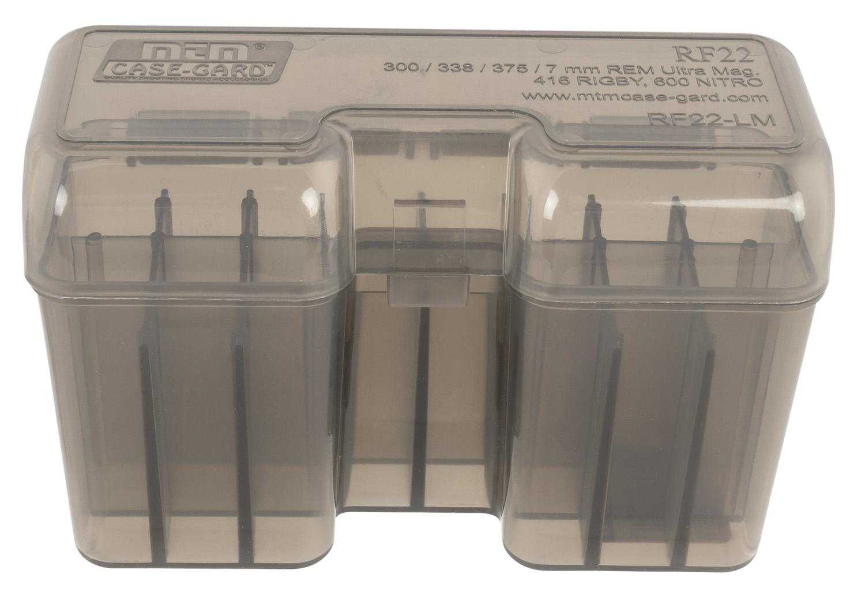 MTM RF22SM41 RF-22 Rifle Ammo Box Flip-Top 22rd WSM Poly Smk