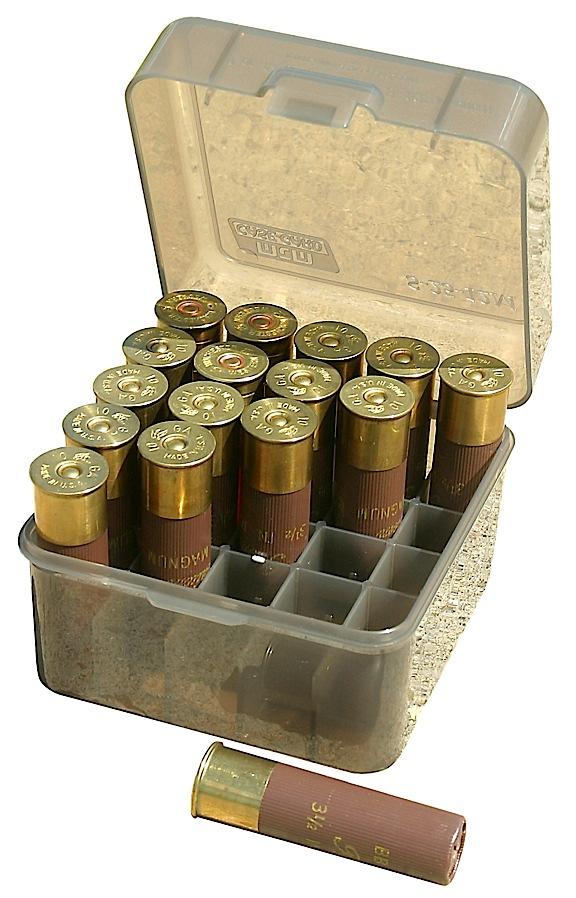 MTM Magnum Shotshell Box  <br>  3 1/2 in. Shells 12 ga./10ga. Clear Smoke 25 rd.
