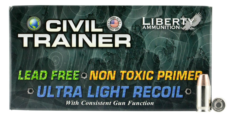 Liberty Ammunition LATR380049 Civil Trainer 380 Automatic Colt Pistol (ACP) 65 GR  50 Bx/ 10 Cs