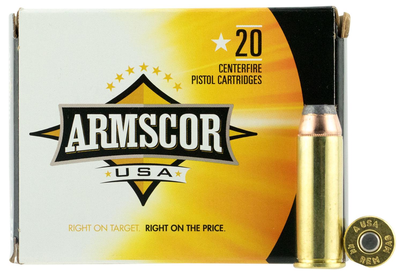 Armscor FAC44M2N 44 Remington Magnum 240 GR Jacketed Hollow Point 20 Bx/ 25 Cs