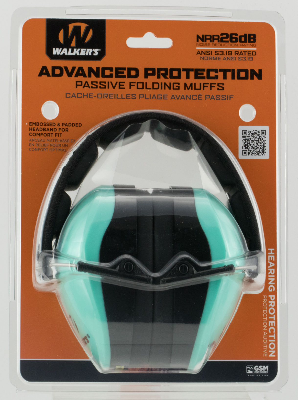 Walkers GWPDCPMLTL Passive Advanced Protection Earmuff 26 dB Black/Blue