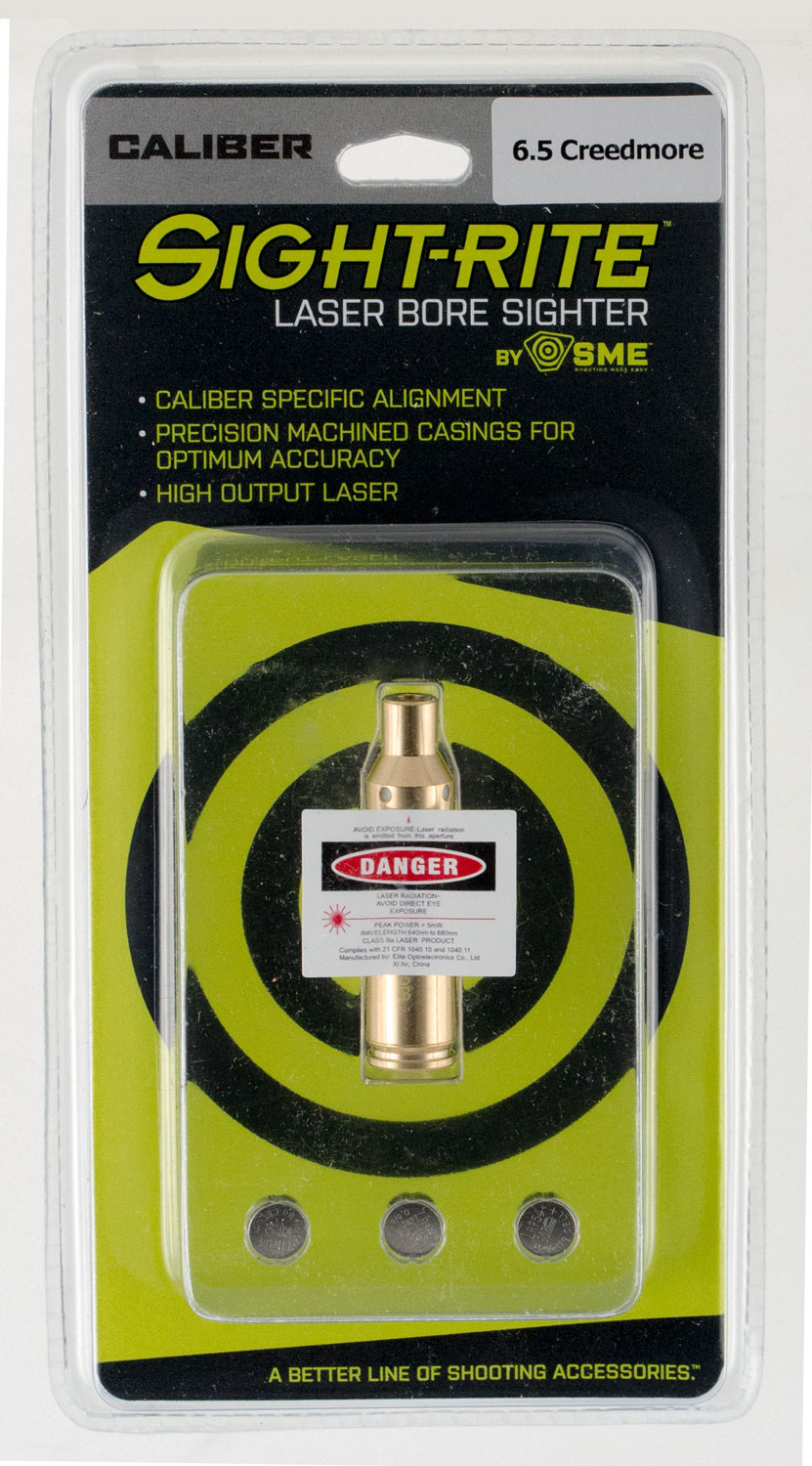 SME XSIBL65CR Sight-Rite Laser Bore Sighting System Laser Boresighter 6.5 Creedmoor Laser 6.5 Creedmoor Brass