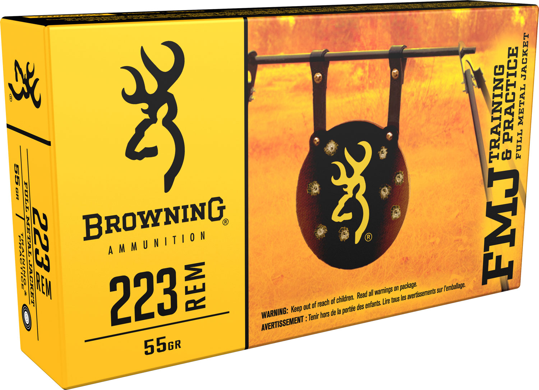 Browning Ammo B192802232 BPT Performance 223 Remington/5.56 NATO 55 GR Full Metal Jacket 20 Bx/ 50 Cs