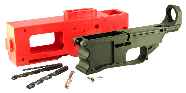 Polymer80 308KITODG 80% Receiver Kit Warrhogg AR-10 308 Win,7.62 NATO OD Green
