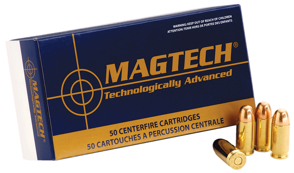 Magtech 40PS Sport Shooting 40 Smith & Wesson (S&W) 180 GR Full Metal Jacket Flat Nose 50 Bx/ 20 Cs