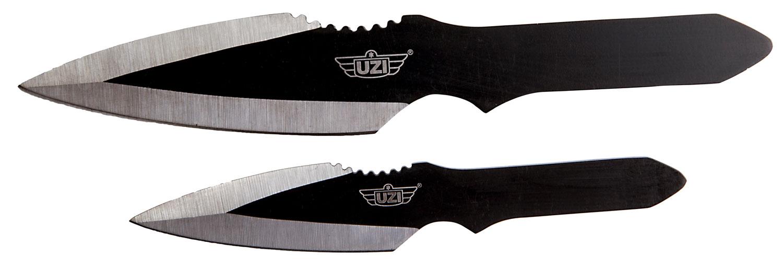Uzi Accessories UZKTRW002 Throwing Knives II  Multiple Stainless Steel Flat Stainless Steel