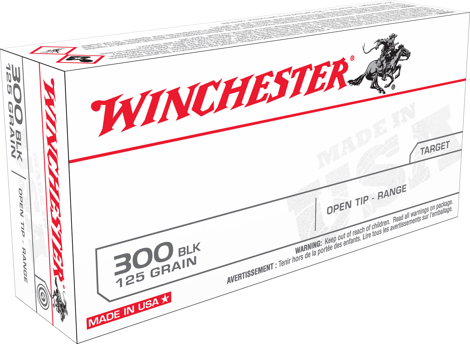 Winchester Ammo USA300BLK Best Value FMJ 300 AAC Blackout/Whisper (7.62x35mm) 125 GR Full Metal Jacket 20 Bx/ 10 Cs