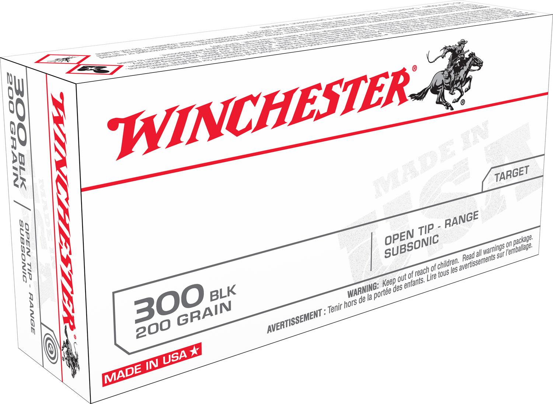 Winchester Ammo USA300BLKX Best Value 300 AAC Blackout/Whisper (7.62x35mm) 200 GR Full Metal Jacket OT 20 Bx/ 10 Cs