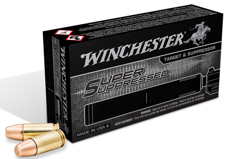 Winchester Ammo SUP22M Super Suppressed 22 Winchester Magnum Rimfire (WMR) 45 GR Lead Round Nose 50 Bx/ 60 Cs