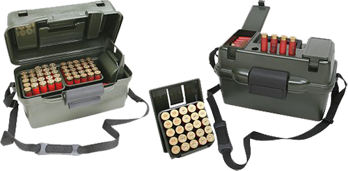 MTM Case-Gard SH100-12-09 Shotgun Hunter Case  12 Gauge Wild Camo Polypropylene 100rd