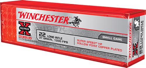 Winchester Ammo X22LRHSS1 Super-X 22 Long Rifle 37 GR Hollow Point 100 Bx/20 Cs