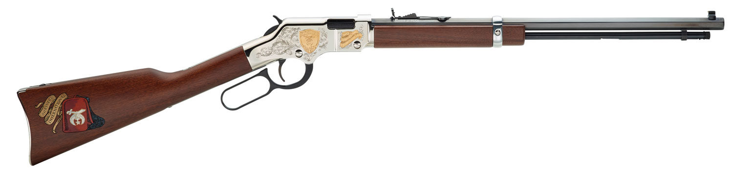 Henry H004SHR Golden Boy Shriner Tribute Edition  Lever 22 Short/Long/Long Rifle 20