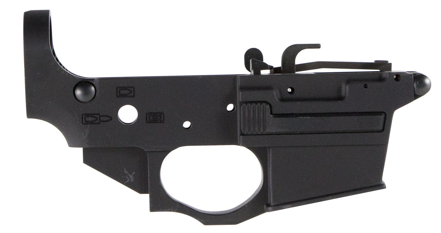 Spikes STLS920 Stripped Lower Spider AR Platform Rifle Multi-Caliber Black Hardcoat Anodized