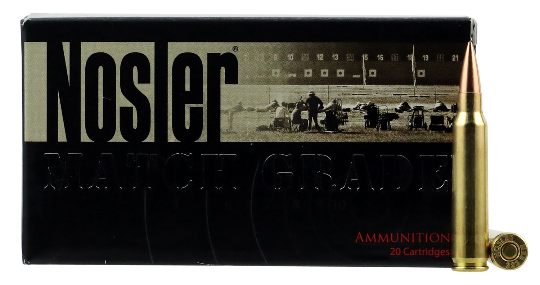 Nosler 60130 Match Grade RDF 223 Remington/5.56 NATO 70 GR Hollow Point Boat Tail 20 Bx/ 10 Cs