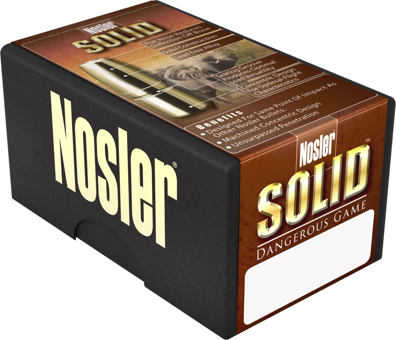 Nosler 40608 Safari 375 Holland & Holland Magnum 300 GR Nosler Solid 20 Bx/ 10 Cs