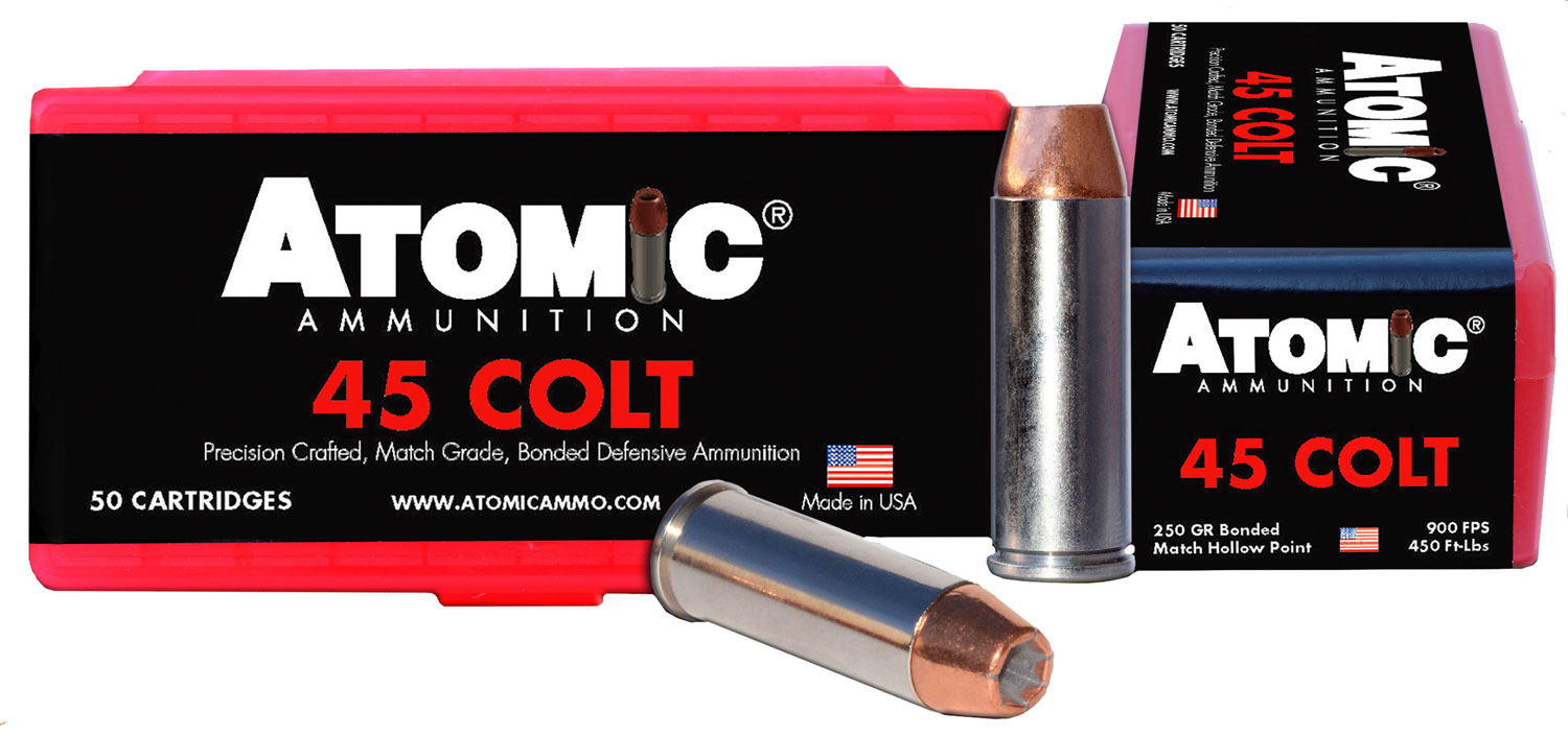 Atomic 00444 Match 45 Colt (LC) 250 GR Bonded Match Hollow Point 50 Bx/ 10 Cs