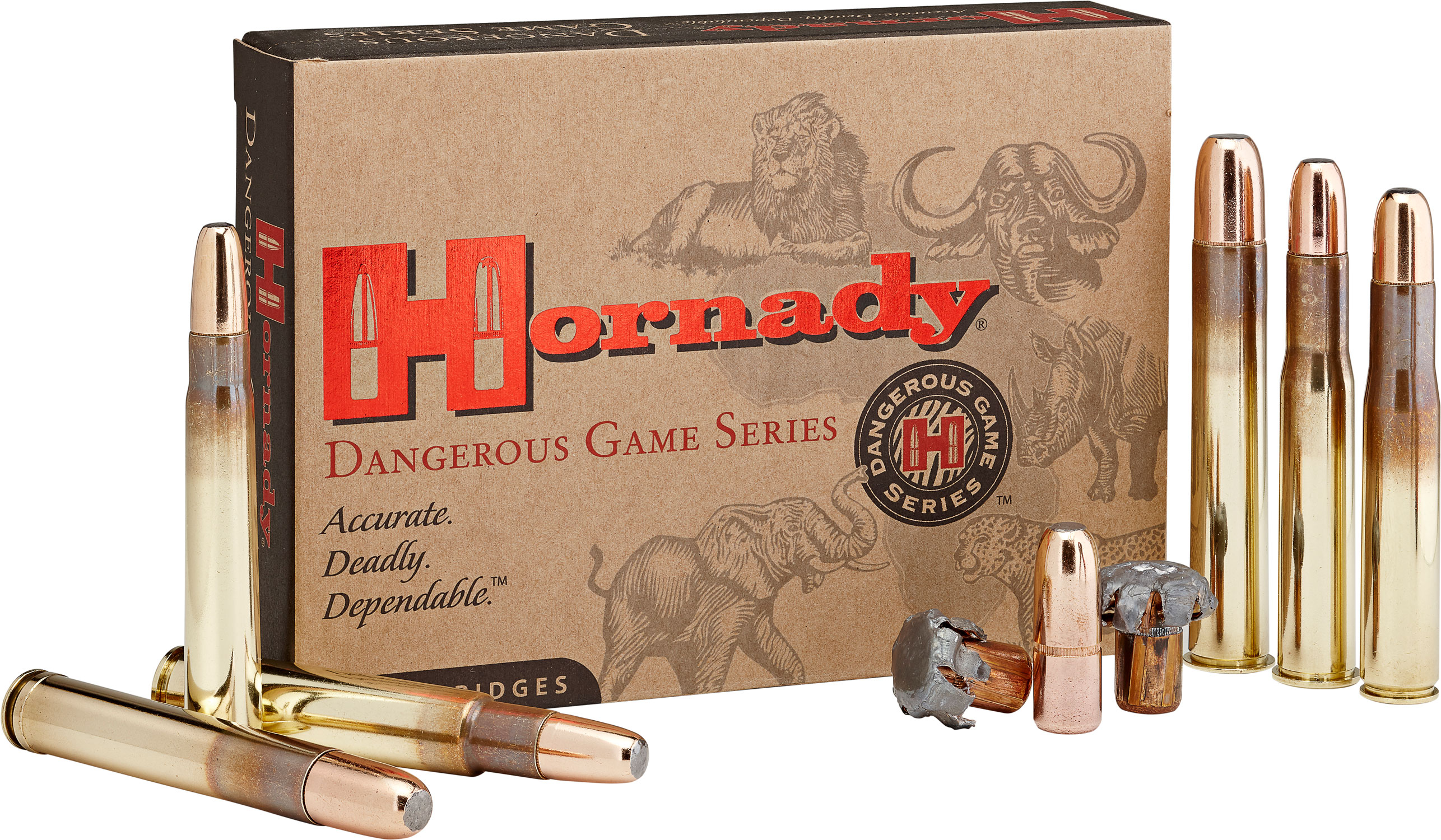 Hornady 82672 Dangerous Game  416 Remington Magnum 400 GR DGX Bonded 20 Bx/ 6 Cs