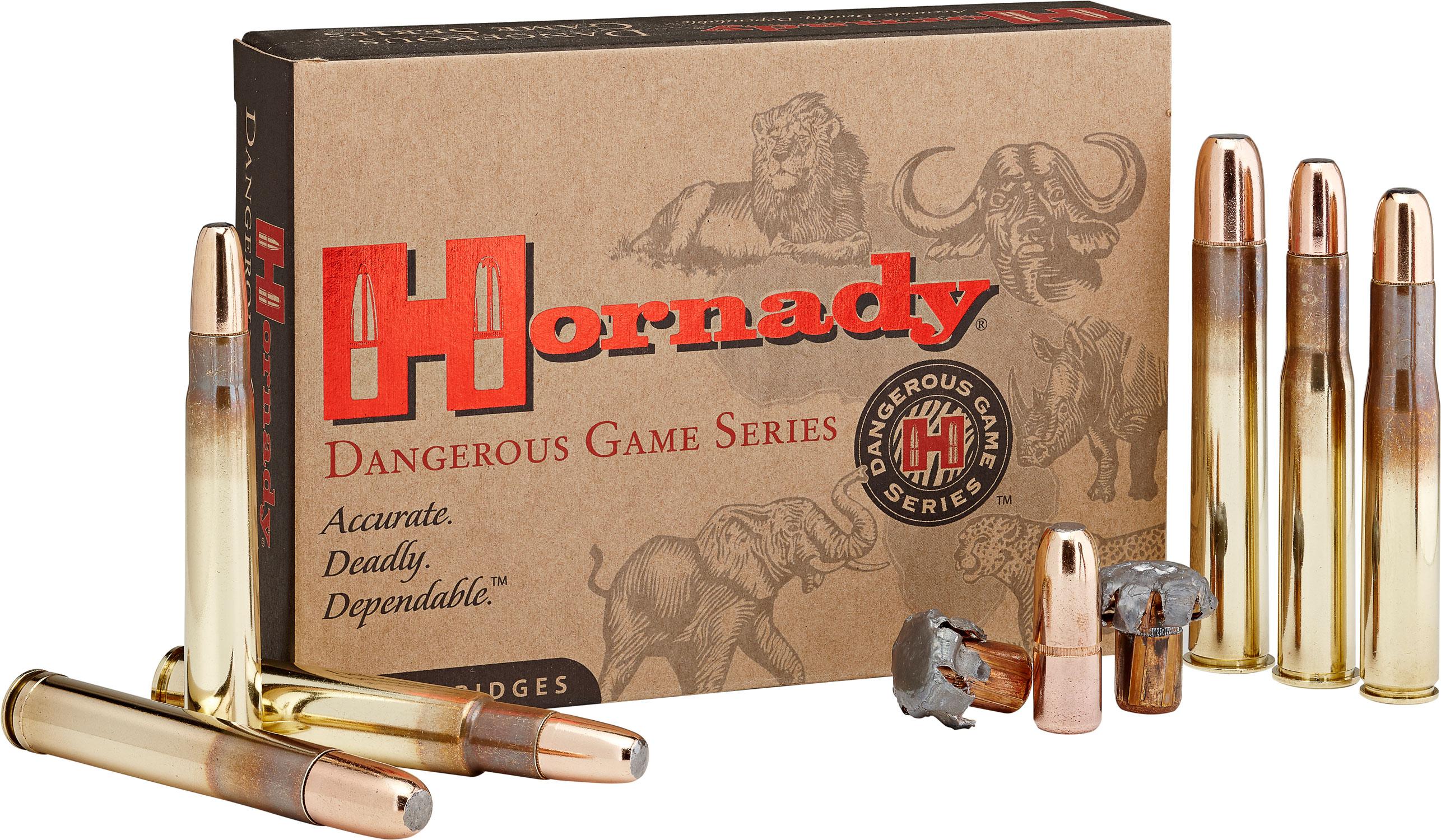 Hornady 82683 Dangerous Game  500-416 Nitro Express 400 GR DGX Bonded 20 Bx/ 6 Cs